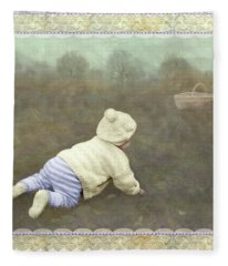 Is Bunny In The Basket? Fleece Blanket