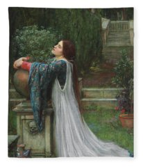 Isabella And The Pot Of Basil Fleece Blanket
