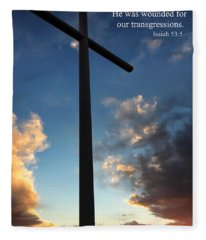Isaiah 53-5 Fleece Blanket