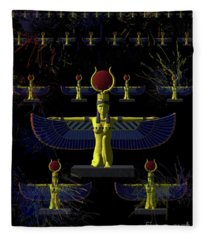 Isis - Goddess Of Egypt Fleece Blanket