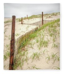 Island Beach Dunes Fleece Blanket