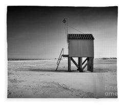 Island Cabin Fleece Blanket