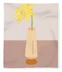 Island Daffodil Fleece Blanket