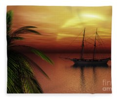Island Explorer  Fleece Blanket