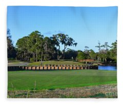 Island Green Tpc Sawgrass Fleece Blanket
