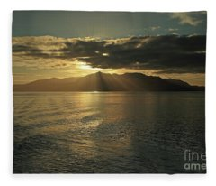 Isle Of Arran At Sunset Fleece Blanket