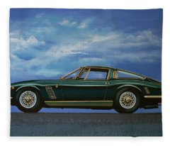 Iso Grifo Gl 1963 Painting Fleece Blanket