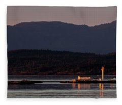 Isolated Lighthouse Fleece Blanket