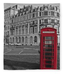 Isolated Phone Box Fleece Blanket