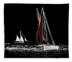 Isolated Yacht Carrick Roads On A Transparent Background Fleece Blanket