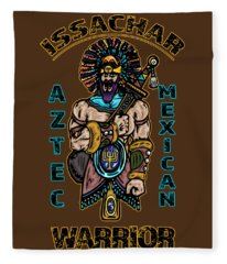 Issachar Aztec Warrior Fleece Blanket