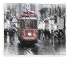 Istambool Historic Tram Fleece Blanket