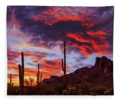 Fleece Blanket featuring the photograph It Is Accomplished by Rick Furmanek