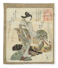 It Is Good To Wear New Clothes, Totoya Hokkei, C. 1822 Fleece Blanket