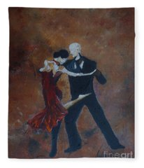 It Takes Two To Tango Fleece Blanket