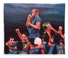 Italia The Blues Fleece Blanket