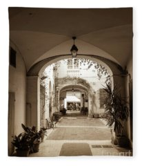 Italian Courtyard  Fleece Blanket