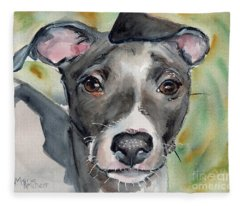 Italian Greyhound Watercolor Fleece Blanket