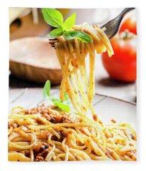 Italian Spaghetti Bolognese Fleece Blanket