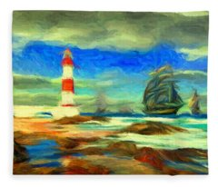 Itapua Lighthouse 1 Fleece Blanket