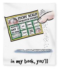 Itchy Scalp Scratch Ticket Fleece Blanket