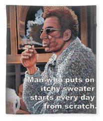 Itchy Sweater Fleece Blanket