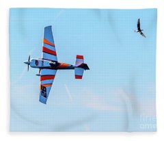 It's A Bird And A Plane, Red Bull Air Show, Rovinj, Croatia Fleece Blanket