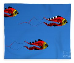 It's A Kite Kind Of Day Fleece Blanket