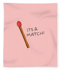 It's A Match Fleece Blanket
