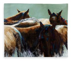 Its All About The Brush Stroke Fleece Blanket
