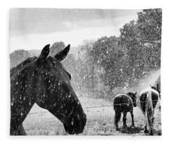 It's Raining Fleece Blanket