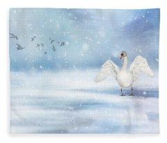 It's Snowing Fleece Blanket