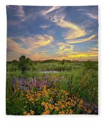 It's Time To Relax Fleece Blanket