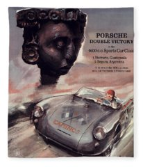 Iv Carrera Panamericana Porsche Poster Fleece Blanket