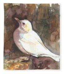 Ivory Gull Fleece Blanket