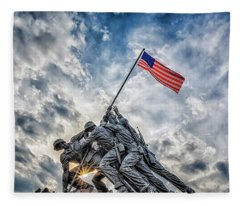Iwo Jima Memorial Fleece Blanket