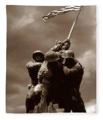 Iwo Jima War Memorial Washington Fleece Blanket
