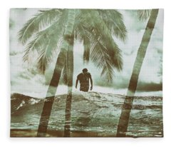 Izzy Jive And Palms Fleece Blanket