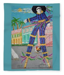 J Ouvert Morning  Fleece Blanket