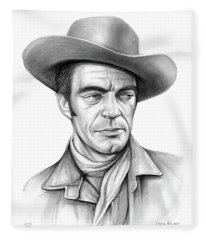 Cowboy Jack Elam Fleece Blanket
