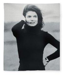 Jackie Kennedy - Painting Fleece Blanket