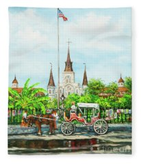 Jackson Square Carriage Fleece Blanket