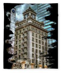 Jackson Tower Portland Oregon Fleece Blanket