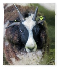 Jacob Sheep Fleece Blanket