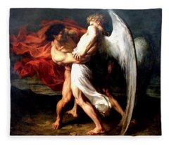 Jacob Wrestling With The Angel Fleece Blanket
