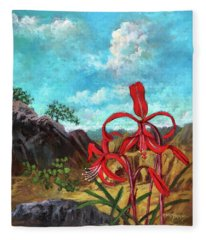Jacobean Lily Of Mexico Fleece Blanket