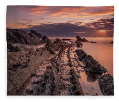 Jagged Rocks Fleece Blanket