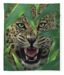 Jaguar - Ambush Fleece Blanket