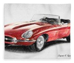 Jaguar E-type Fleece Blanket