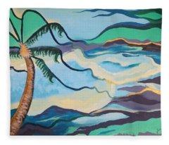 Jamaican Sea Breeze Fleece Blanket